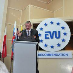 Autor blogu - Sławomir Pytel, podczas konferencji EVU (Europäische Vereinigung für Unfallforschung Und Unfallanalyse)